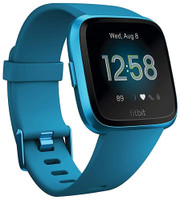 Fitbit Versa Lite 34 mm aluminium blauw met siliconen armband [wifi] oceaanblauw