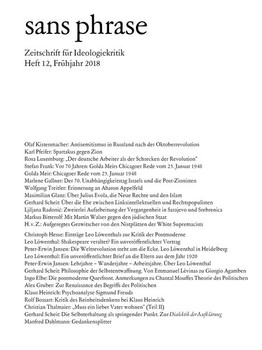 sans phrase. Zeitschrift für Ideologiekritik; Heft 12, Juni 2018 [Taschenbuch]
