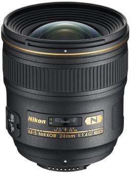 Nikon AF-S NIKKOR 24 mm F1.4 ED G 77 mm Objetivo (Montura Nikon F) negro