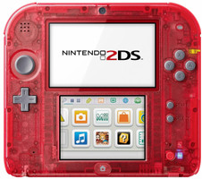 Nintendo 2DS rouge transparente