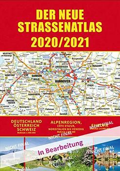 Straßenatlas 2020/2021 Deutschland/Europa. Deutschland - Österreich - Schweiz [Taschenbuch]