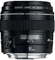 Canon EF 85 mm F1.8 USM 58 mm Objetivo (Montura Canon EF) negro