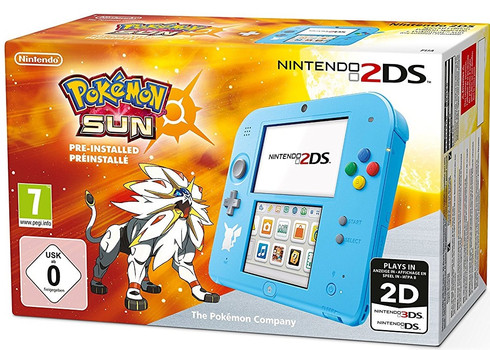 Nintendo 2DS azul [Edición especial Pokémon Sol]