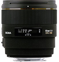 Sigma 85 mm F1.4 DG EX HSM 77 mm Objetivo (Montura Pentax K) negro