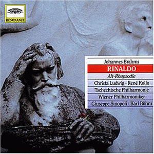 Sinopoli - Johannes Brahms: Rinaldo (op. 50) - Kantate für Tenor, Männerchor und Orchster nach J. W. Goethe/ Alt-Rhapsodie (op. 53)