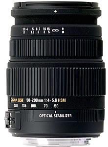 Sigma 50-200 mm F4.0-5.6 DC HSM OS 55 mm Objectif (adapté à Pentax K) noir