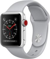 Apple Watch Series 3 38mm Caja de aluminio en plata con correa deportiva gris niebla [Wifi + Cellular]