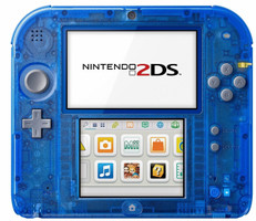 Nintendo 2DS blu transparente