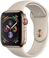Apple Watch Series 4 44mm caja de acero inoxidable en oro y correa deportiva en color piedra [Wifi + Cellular]