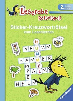 Sticker-Kreuzworträtsel (2. Lesestufe), grün - Anne Johannsen  [Taschenbuch]