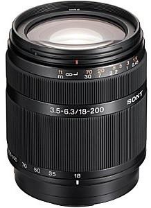 Sony 18-200 mm F3.5-6.3 DT 62 mm Objectif (adapté à Sony A-mount) noir