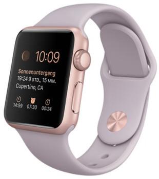 Apple Watch Sport 38mm oro rosa con cinturino Sport lavanda [Wifi]