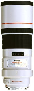 Canon EF 300 mm F4.0 IS L USM 77 mm filter (geschikt voor Canon EF) wit