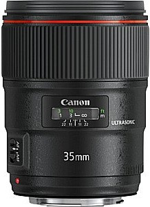 Canon EF 35 mm F1.4 L USM II (geschikt voor Canon EF) zwart