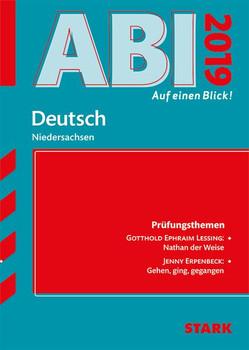 Abi - auf einen Blick! Deutsch Niedersachsen 2019 [Taschenbuch]