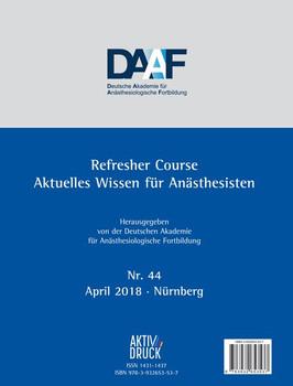 Refresher Course Nr. 44/2018. Aktuelles Wissen für Anäshtesisten [Taschenbuch]