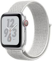 Apple Watch Nike+ Series 4 40 mm aluminium zilver met geweven Nike sportbandje [wifi + cellular] grijswit