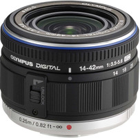 Olympus M.Zuiko Digital 14-42 mm F3.5-5.6 ED 0,5 mm Objetivo (Montura Micro Four Thirds) negro
