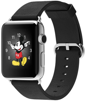Apple Watch 42mm argento con cinturino Classic nero [Wifi]