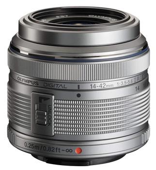 Olympus M.Zuiko Digital 14-42 mm F3.5-5.6 R II 37 mm filter (geschikt voor Micro Four Thirds) zilver