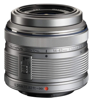 Olympus M.Zuiko Digital 14-42 mm F3.5-5.6 R II 37 mm Obiettivo (compatible con Micro Four Thirds) argento