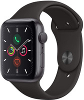 Apple Watch Series 5 44 mm Caja de aluminio gris espacial con correa deportiva negra [Wifi]
