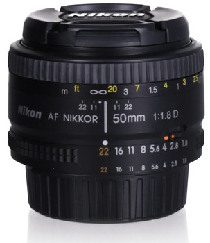 Nikon AF NIKKOR 50 mm F1.8 D 52 mm filter (geschikt voor Nikon F) zwart