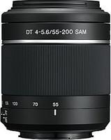 Sony DT 55-200 mm F4.0-5.6 APS-C SAM II 55 mm Objectif (adapté à Sony A-mount) noir