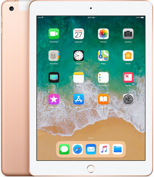 "Apple iPad 9,7"" 128 Go [Wifi + Cellular, Modèle 2018] or"