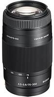 Sony 75-300 mm F4.5-5.6 55 mm Objectif (adapté à Sony A-mount) noir