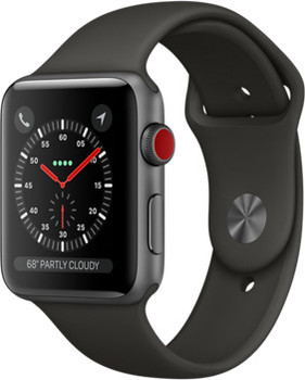 Apple Watch Series 3 42mm Caja de aluminio en gris espacial con correa deportiva gris [Wifi + Cellular]