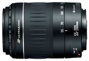 Canon 55-200 mm F4.5-5.6 USM 52 mm Objetivo (Montura Canon EF) negro