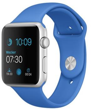 Apple Watch Sport 42mm plata con correa deportiva azul eléctrico [Wifi]