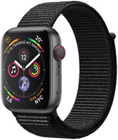 Apple Watch Series 4 44mm caja de aluminio en gris espacial y correa Loop deportiva negra [Wifi + Cellular]