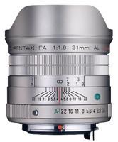 Pentax smc FA 31 mm F1.8 58 mm Objetivo (Montura Pentax K) plata [Edición limitada]