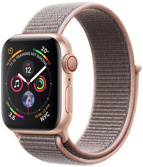 Apple Watch Serie 4 40 mm alloggiamento in alluminio oro con Loop sportivo rosa sabbia [Wi-Fi + Cellular]