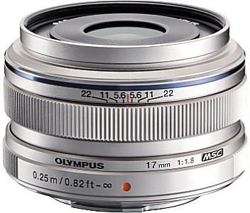 Olympus 17 mm F1.8 46 mm filter (geschikt voor Micro Four Thirds) zilver