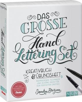 Das große Handlettering-Set. Kreativbuch & Übungsheft + 2 Pentel-Stifte - Sandra Brezina  [Taschenbuch]