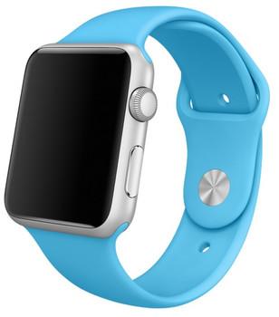 Apple Watch Sport 42mm argento con cinturino Sport blu [Wifi]