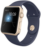 Apple Watch Sport 42 mm goud met sportbandje donkerblauw [wifi]