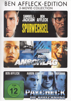 Ben Affleck Edition - 3 Movie Collection: Spurwechsel / Der Anschlag / Paycheck [3 DVDs]