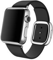 Apple Watch 38 mm en argent avec Bracelet Boucle Moderne Small noir [Wi-Fi]