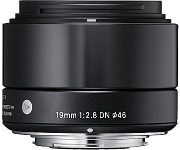 Sigma A 19 mm F2.8 DN 46 mm Objectif (adapté à Micro Four Thirds) noir