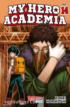 My Hero Academia 14. Die erste Auflage immer mit Glow-in-the-Dark-Effekt auf dem Cover! Yeah! - Kohei Horikoshi  [Taschenbuch]