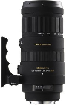 Sigma 120-400 mm F4.5-5.6 APO DG HSM OS 77 mm Objetivo (Montura Nikon F) negro