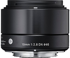 Sigma A 19 mm F2.8 DN 46 mm filter (geschikt voor Micro Four Thirds) zwart