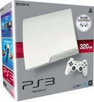 Sony PlayStation 3 Slim 320 GB blanco [Modelo K - incluye 2 mandos inalámbricos]