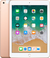 "Apple iPad 9,7"" 128 Go [Wifi + Cellular, Modèle 2018] or"