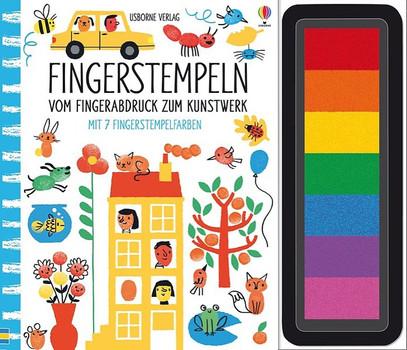Fingerstempeln:  Vom Fingerabdruck zum Kunstwerk. mit 7 Fingerstempelfarben - Fiona Watt  [Gebundene Ausgabe]