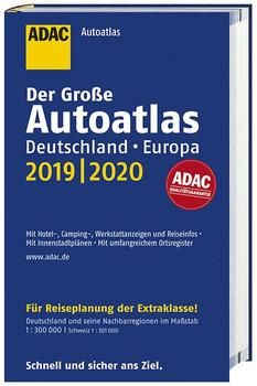 Großer ADAC Autoatlas 2019/2020, Deutschland 1:300 000, Europa 1:750 000 [Gebundene Ausgabe]